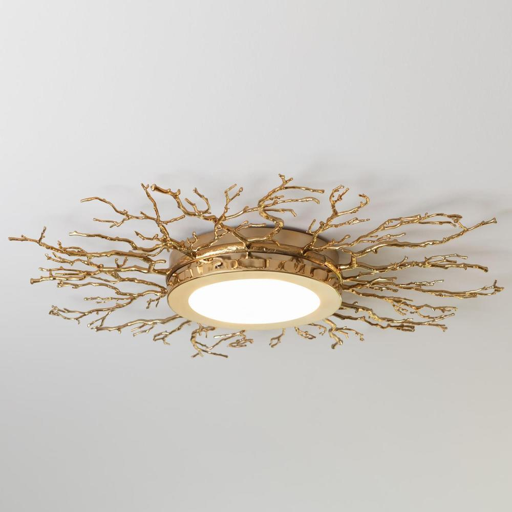See Details - Twig Ceiling Fixture-Brass