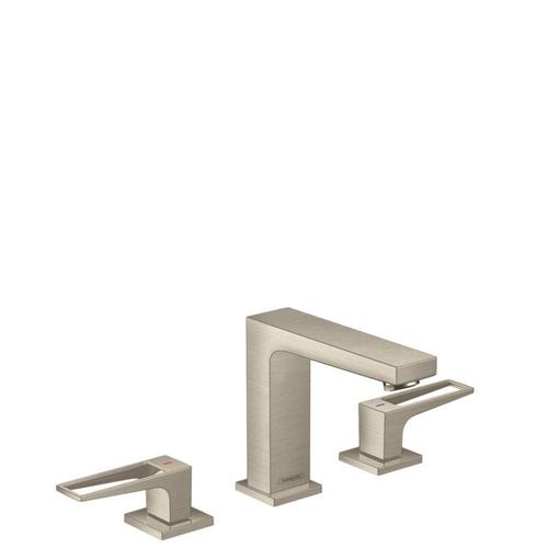 Brushed Nickel Widespread Faucet 110 with Loop Handles, 1.2 GPM