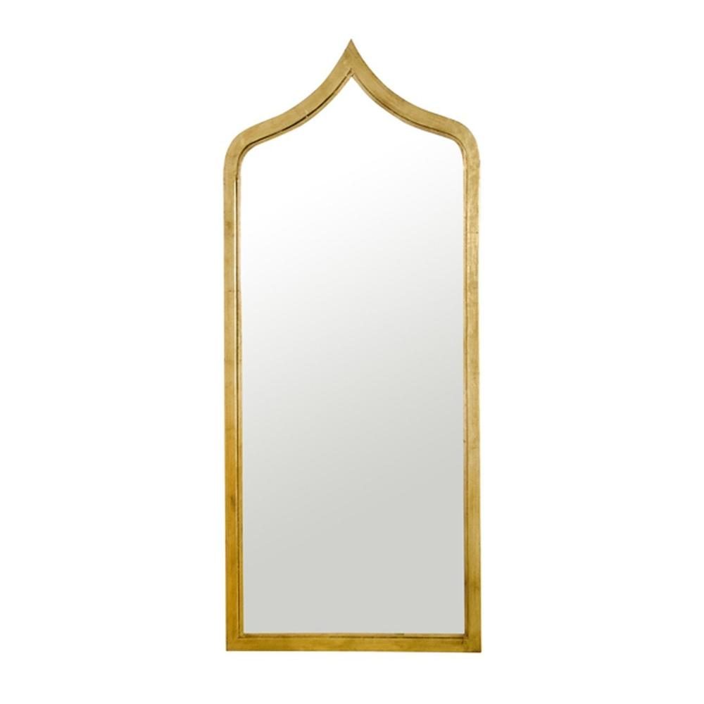 """Mirror Mirror On the Wall, Who's the Most Stylish of Them All"""" Our Extra Long, Moroccan Inspired Gold Leafed Iron Adina Mirror Will Have You Gazing Dreamily Back At Your Beautiful Interior."""