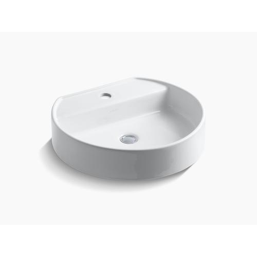 Biscuit Vessel Bathroom Sink With Single Faucet Hole