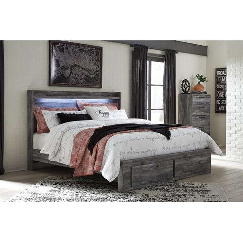 Signature Design By Ashley - Baystorm - Gray 4 Piece Bed (King)