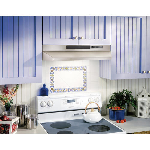Broan® 30-Inch Convertible Under-Cabinet Range Hood, Stainless Steel