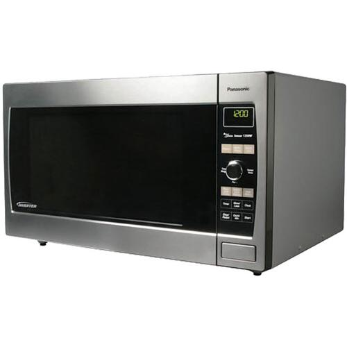 Panasonic - Full-Size 1.6 cu. ft. Countertop/Built-In Microwave Oven with Inverter Technology, Stainless