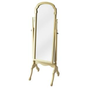 Butler Specialty Company - This elegant cheval mirror adds an often-overlooked decorative touch to a room. Featuring a swivel-tilt design, this full-length mirror can easily be set to a desired angle by adjusting the antique brass finished thumb screws on either side. Crafted from select solid woods and choice cherry veneers with carved details, it makes a beautiful addition to the bedroom, living room, dining room, or dressing area.