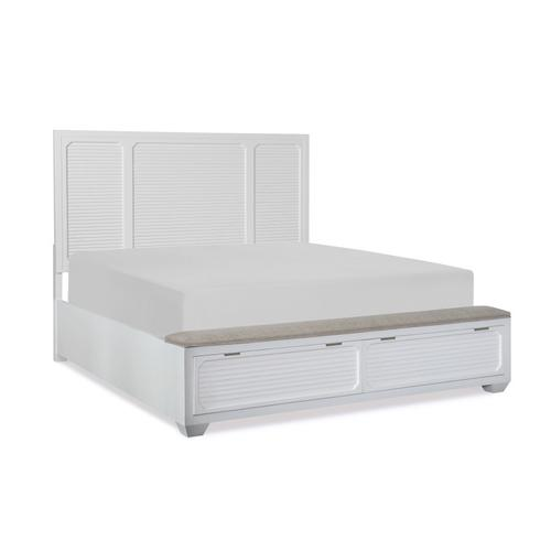 Willow Creek Panel Bed w/Storage Footboard, Queen 5/0
