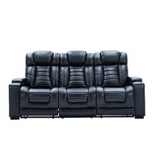 Collin Navy Power Sofa w/Headrest & Reading Light