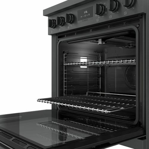 800 Series Dual Fuel Freestanding Range 30'' Black Stainless Steel HDS8045U