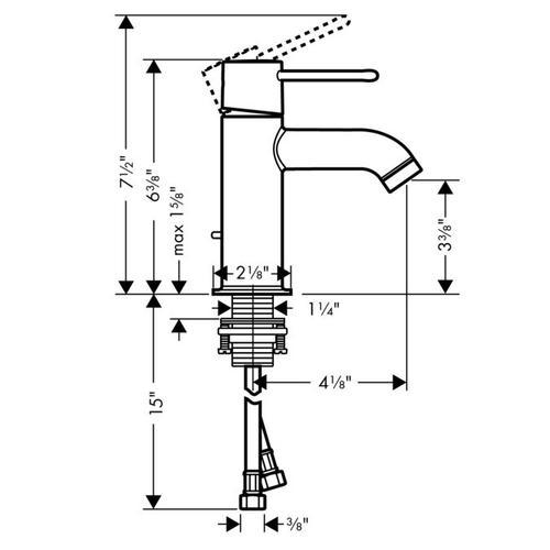 Chrome Basin mixer 90