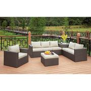 Davina Patio Sectional w/ Ottoman & Storage Product Image