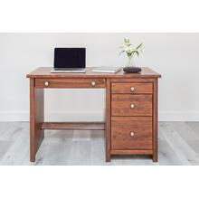 Small Desk 22 Deep With 1 Pencil Dr/Keyboard Tray & Pedestal(1 Pencil,1 Reg &1 File drws)RHF
