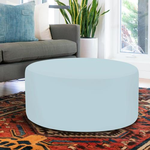 Universal Round Ottoman Cover Seascape Breeze (Cover Only)