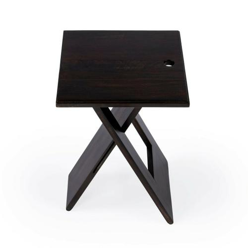 Butler Specialty Company - Whimsical, versatile and fun! This folding table is designed to snuggle into a small spot for a brief visit or a long stay. Folds easily for compact storage. Crafted from Mango wood solids. Finished in coffee finish.
