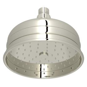 "Polished Nickel 6"" Bordano Rain Anti-Calcium Showerhead"