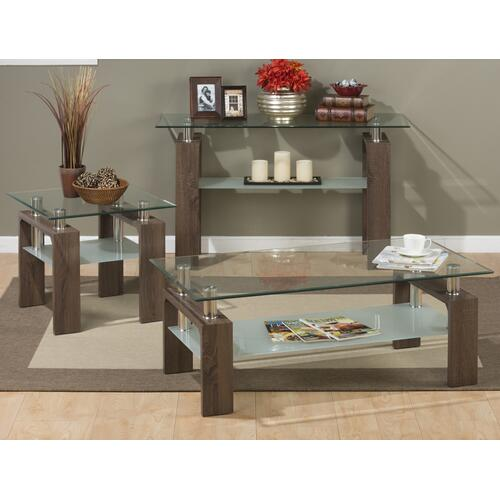 Compass End Glass Table Top