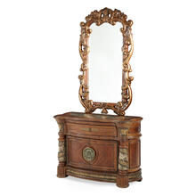 Accent Cabinet-night Stand-end Table W/DECOR.MIRROR