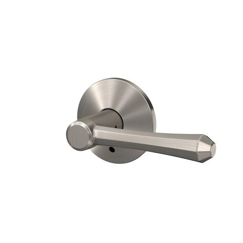 Custom Dempsey Lever with Kinsler Trim Hall-Closet and Bed-Bath Lock - Satin Nickel