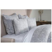 French Herringbone Storm 3Pc Queen Duvet Set
