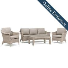 Laurel 4pc Sofa Seating w/ Natural Tan Cushion