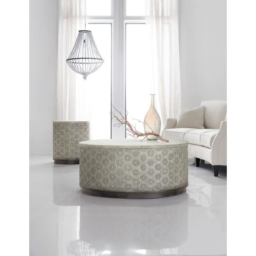 Living Room Melange Greystone Round Cocktail Table