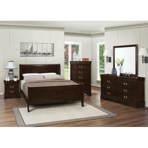 Louis Philippe Warm Brown Full Four-piece Bedroom Set