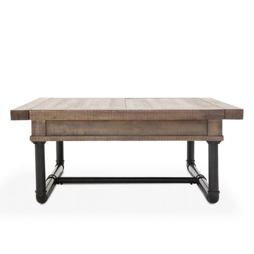 Square Cocktail Table W/storage Reclaimed Barn