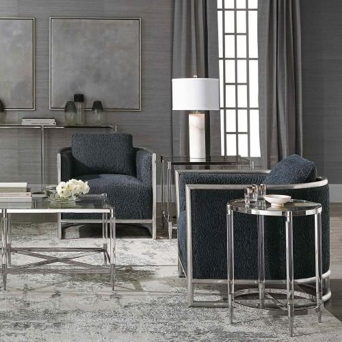 Celine Metal Round End Table