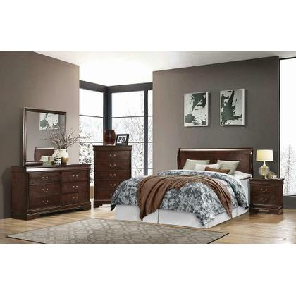 See Details - Louis Philippe Traditional Cappuccino Eastern King Headboard