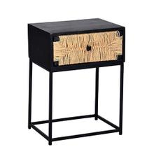 See Details - Nightstand/Side Table - Black Jute Finish