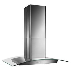 Broan® 35-3/8-Inch x 25-5/8-Inch Convertible Curved Glass Canopy Island Range Hood, 500 CFM, Stainle