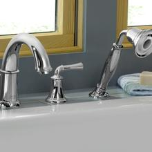 Portsmouth Deck-Mounted Bathtub Faucet with Lever Handles - Oil Rubbed Bronze