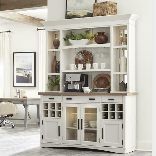 Parker House - AMERICANA MODERN DINING 2pc 69 in. Buffet / Display Hutch with quartz insert