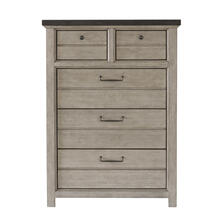 5 Drawer Chest in Farmhouse Grey