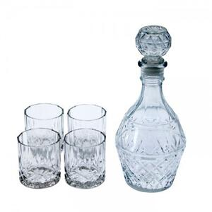 Decanter With 4 Glasses