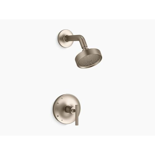 Kohler - Vibrant Brushed Bronze Rite-temp Shower Trim With Lever Handle and 1.75 Gpm Showerhead