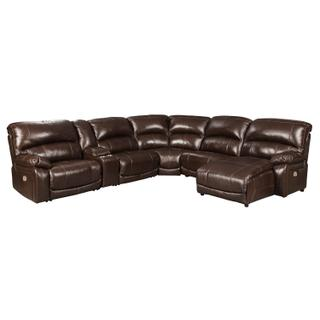 Hallstrung - Chocolate 6 Piece Reclining Sectional
