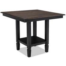 See Details - Glennwood Counter Table  Black & Charcoal