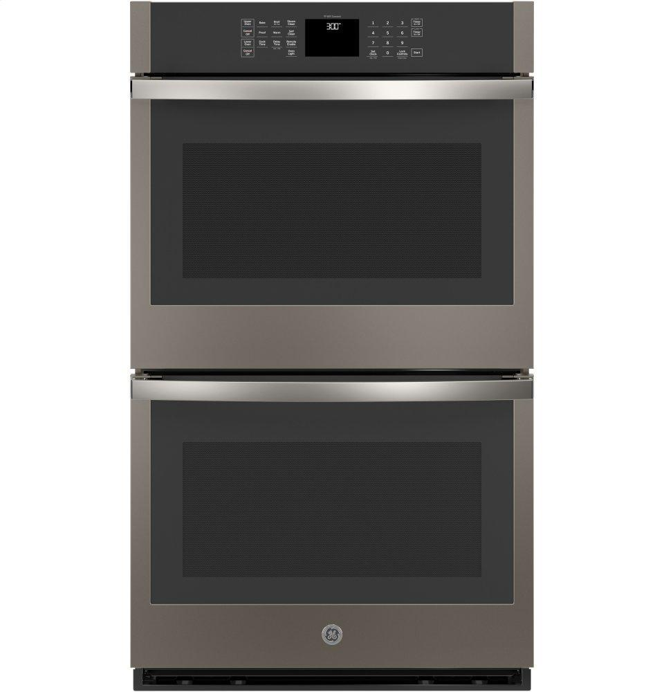 """GE30"""" Smart Built-In Self-Clean Double Wall Oven With Never-Scrub Racks"""