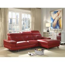 AERYN RED PU SECTIONAL SOFA