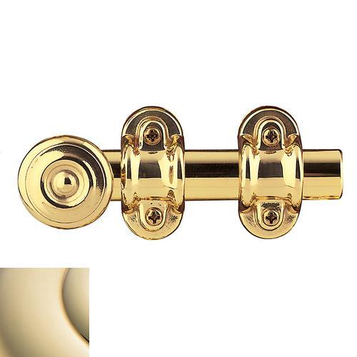 Baldwin - Lifetime Polished Brass Ornamental Heavy Duty Surface Bolt