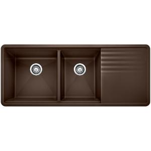 Precis Multilevel 1-3/4 Bowl With Drainer - Café Brown