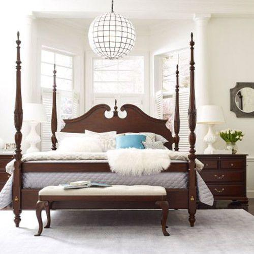 Hadleigh Rice Carved Queen Bed - Complete