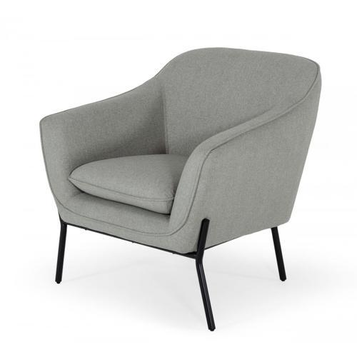 Gallery - Modrest Joiner - Modern Grey Fabric Armchair
