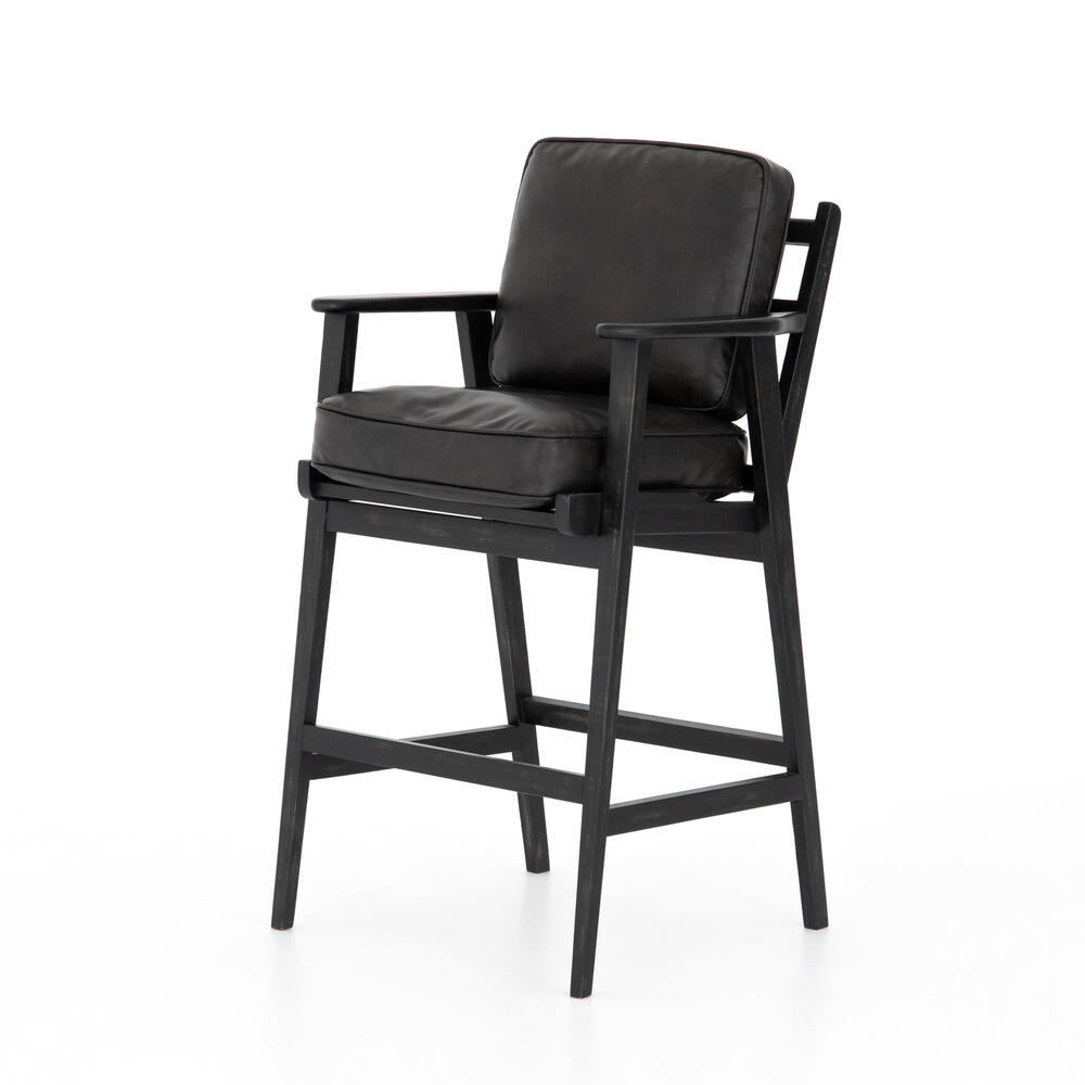 Bar Stool Size Distressed Black Cover Brooks Bar + Counter Stool