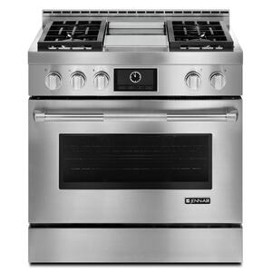 "JENN-AIRPro-Style® 36"" Gas Range with Griddle and MultiMode® Convection Stainless Steel"
