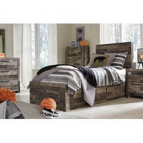Derekson Twin Storage Bed Multi Gray