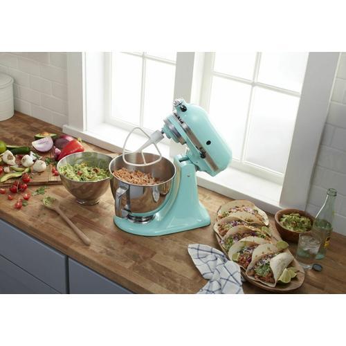 Gallery - Value Bundle Artisan® Series 5 Quart Tilt-Head Stand Mixer with additional 3 Quart bowl - Aqua Sky