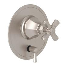 Palladian Pressure Balance Trim with Diverter - Satin Nickel with Cross Handle