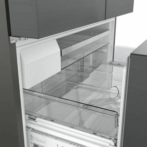 Gallery - 800 Series French Door Bottom Mount Refrigerator 36'' Black stainless steel B36CT80SNB