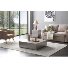 View Product - Modrest Anvil Modern Brushed Stainless Steel Coffee Table
