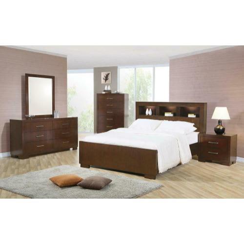 Coaster - Jessica Dark Cappuccino King Five-piece Bedroom Set With Storage Bed
